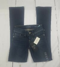NEW Guess Los Angeles Daredevil Boot Women's Jeans Size 24 Dark Wash