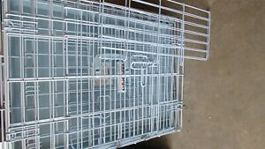 Precision Pet Kennel Cat Dog Folding Steel Crate Playpen Wire Metal Cage Lt Blue