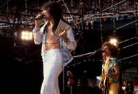 Steve Perry And Neal Schon Of Journey At Comiskey Park Old Music Photo