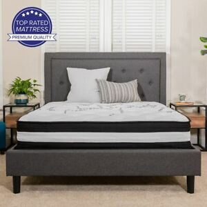 "Capri Comfortable Sleep 12"" Foam & Pocket Spring Mattress, Full Mattress in a Bo"
