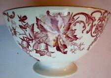 Ancien bol sur piédouche signé St Amand, Art Déco, décor vieux rose: Campanules