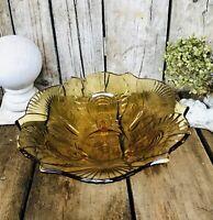 Bernstein Farbe Gelb Art Déco Schale Pressglas Antik Glasschale formschön