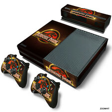 Xbox One Console Skin Decal Sticker Jurassic Park + 2 Controller & Kinect Skins
