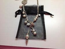 New Bibi Bijoux Heavy Silver Plate/Pearls/Charms with Swarovski Crystals $140 36