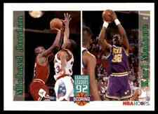 1992-93 NBA Hoops Scoring Leaders Michael Jordan-Karl Malone Chicago Bulls #320