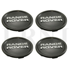 WHEEL CENTER CAP BLACK WITH SILVER LOGO SET OF 4 FOR RANGE ROVER CLASSIC 87-95