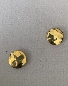 18K Gold Vermeil over Sterling Silver 15mm Hammered Beads