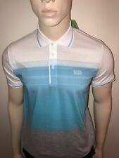 Hugo Boss Green Men's Regular Fit Paddy Polo Shirt XXL Blue