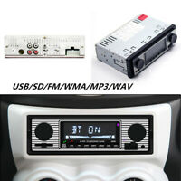 Autoradio Fm Retro Radio Auto Smart Lettore Stereo Bluetooth MP3 USB Wav Fm UK