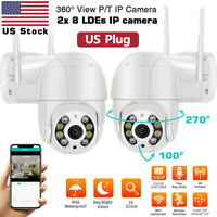 ICSEE 360° CCTV IR PTZ IP Camera Outdoor WiFi 1080P HD Home Security Wireless US