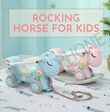 Baby Kids Rocking Horse Ride On Toy Pony Cute Colourful Fun Toddler