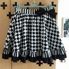 Jupe BODYLINE Skirt Japan Lolita goth Black White Alice Diamond Cute Kawaii