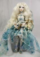 Blue Hydrangea by Julia Arts (Angela An) - Porcelain OOAK Art BJD Doll