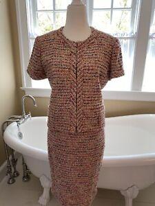 J.Crew Collection Candy Tweed Ratti Jacket & Skirt Suit Sz 4 Jkt Sz 0 Skirt, NWT