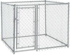 4 x 5 x 5 ft Galvanized Chain Link kennel Pet Dog Steel Cage Fence Panel Playpen