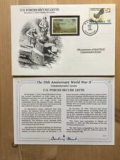DANBURY Comme neuf Guerre Mondiale 2 WW2 Philippines 1994 FDC Grenade Leyte drapeau américain