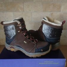 AHNU Montara Luxe Waterproof Corduroy Leather Trail Hiking Boots Shoes 8 Womens