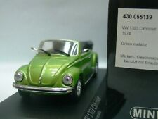 WOW EXTREMELY RARE VW Beetle Käfer 1303 Cabriolet 1974 V.Green m 1:43 Minichamps