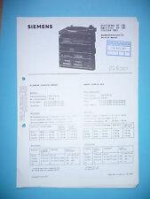 Service manual manual for Siemens RV 180 ,ORIGINAL