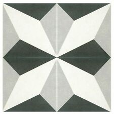 SomerTile 7.75x7.75 Inch Thirties Diamond Ceramic Floor And Wall Tile 25 Case