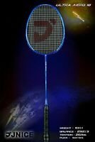 JNICE AERO-10 ULTRA blue BADMINTON RACKET STRUNG Carbon Fiber Shaft