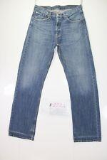 levi's 501 indigo (Cod. F2224) Tg.46 W32  L32 jeans usato vintage