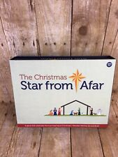 The Christmas Star From Afar - Wooden Nativity Set & Book - New Open Box