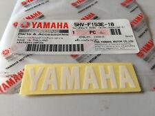 100 Genuine Yamaha Small White Decal Sticker Badge 60mm X 15mm UK Stock