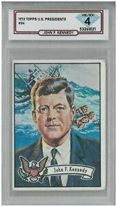 1972 Topps U.S Presidents John F. Kennedy #34 💎 DSG 4 VG/EX
