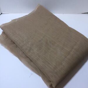 """8 Yards Brown Sheer Fabric 54"""" wide Polyester"""