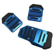 3Pcs/Set Non-slip Car Auto Aluminium Foot Treadle Blue Pedals Cover Pad UK/Lefan