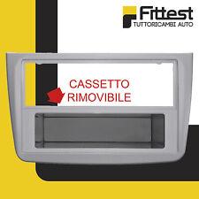 Mascherina 2 DIN Alfa Mito Adattatore Stereo Cornice Radio Colore Argento Romeo
