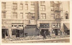 H90/ Long Beach California Postcard RPPC c1930s Imperial Theatre Earthquake 34