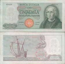 "5.000 lire 1968  ""Cristoforo Colombo"" H86 Carta bianca"