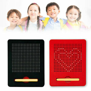 Educational Magnetic Tablet Magnatab Drawing Board Bead Pad w/Pen Kids Toy