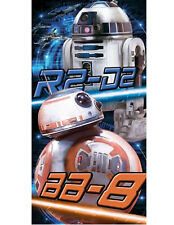 Star Wars Droid R2-D2 & BB-8 Beach Towel Velour 28x58