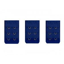 3 rallonges bleu fonçé extension soutien gorge 2 crochets -  accessoire lingerie