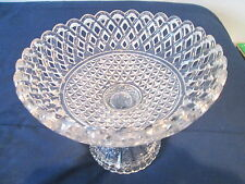 """GLASS PEDESTAL FRUIT BOWL 8 3/4""""ROUND BY 7 3/8"""" HIGH"""