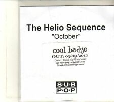(DT753) The Helio Sequence, October - 2012 DJ CD