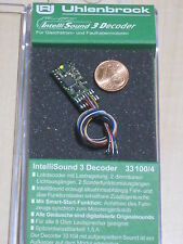Uhlenbrock 33100 Spur H0,TT,N Mini Sounddecoder MOT/DCC + Kabel + Wunschsound