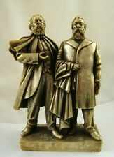 USSR Germany communist MARX & ENGELS statue sculpture bust H=22 cm.