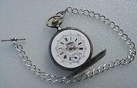 ANTIKE BAUERN TASCHENUHR* VOGEL  Relógio De Bolso TASCA POCKET WATCH LÄUFT