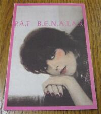 UNUSED Genuine OTTO Backstage Pass Pink PAT BENATAR Precious Time Tour Benetar