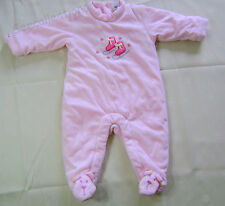 Baby Gap Pink Skate Shoe Red Snow Flakes Floral Coverall Pram Snowsuit NEW