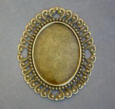 Antique bronze big Cabochon Resin base setting - 20 pcs
