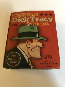 DICK TRACY #1446-BIG LITTLE BOOK-SPIDER GANG 1937 In Fine/Very Fine Condition.