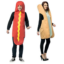 Hot Dog & Bun Couples Adult Costume Standard Size