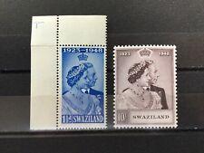 Swaziland 1948 Silver Wedding SG 46-47 MNH