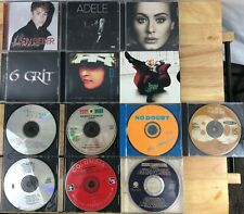 Lot of 13 CDs/compact discs~ Adele, Rolling Stones, Justin Bieber, No Doubt