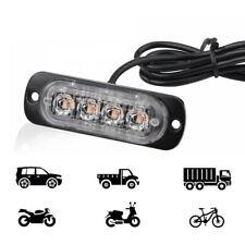 1x DC 12V-24V Red LED Car Auto Warning Flash Light Flashing Strobe Lamp Useful